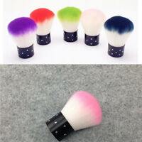 1 PC Exquisite Acrylic UV Gel Nail Art Dust Cleaner Colorful Nail Tools Brush