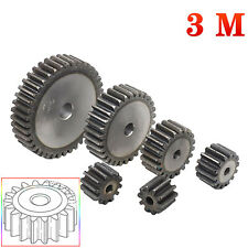 3.0 Module Spur Gear Pinion Gears #45 Steel 10T to 26T Metal Spur Transmission