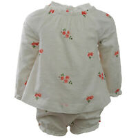 Janie And Jack Dot Floral Set Short