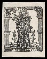 santino  XILOGRAFIA 1800 S.ANTONIO DA PADOVA