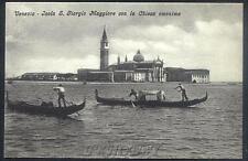 CPA Italia Venice Venezia Isola S Giorgio Maggiore con la Chiesa Basilica i68