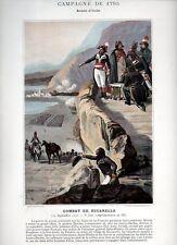 Stampa antica NAPOLEONE BONAPARTE 1795 Battaglia di ZUCCARELLO 1890 Old print