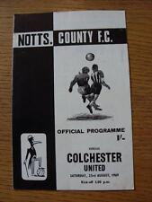 Notts County V Colchester unida 23/08/1969 (Rusty Grapa, daños leves donde