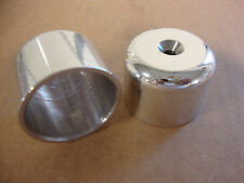 BIG DOG MOTORCYCLES 2003 CHOPPER POLISHED REAR AXLE NUT COVER SET BDM