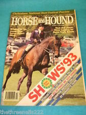 HORSE and HOUND - SHOWS '93 - MARCH 11 1993