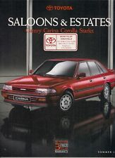 Toyota Starlet Corolla Carina Camry Summer 1991 UK Market Sales Brochure