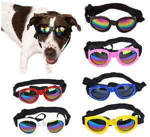 Dog Goggles Sunglasses, USA Seller, 6 Colors! Eye Protection, Adjustable, Padded