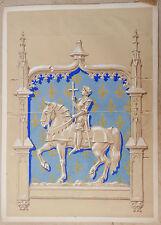 Dessin Gouache FELIX LOCHARD Projet illustration Jeanne d'Arc cadre Mediéval