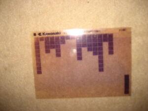 Kawasaki Kl De 250 A3 _ A4,Catálogo Piezas Repuesto Microfichas Microfilm