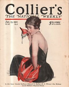 1921 Colliers January 15 - Sax Rohmer; What a woman believes; Chickasha; Rare