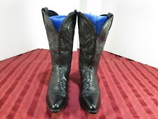 Tony Lama Style 1970L Black Leather Cowboy Western Boots Women Size 6 M