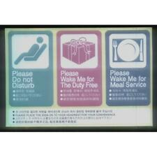Korean Air Airlines Sticker Labels Please do not disturb , wake me for meal