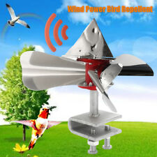 Wind Power Bird Repeller Scarer Control Silver Stainless Steel Garden Deterrent