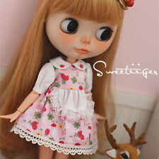 """【Tii】berry dress outfit 12"""" 1/6 doll Blythe/Pullip/azone Clothes Handmade girl"""