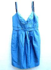 BCBG MaxAzria Blue Silk Taffetta Cocktail Party Dress 8 or Small to medium