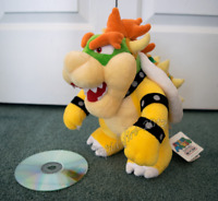 "Super Mario Bros Bowser King Koopa Plush Soft Doll Figure Stuffed Toy 10"" Gift"