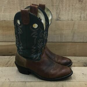 Double H Mens Buckaroo Prime 1584 Brown Green Western Cowboy Boots Size 13 D