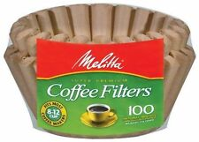 Melitta 8-12 Cup Basket Coffee Filters Paper Natural Brown, 100 Count