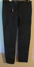 Joe Fresh Style Frais Pants 2 Tall Navy Blue Straight Legs Rear Pockets 31 x 32