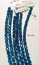 CZECH FACETED CRYSTALS ROUND BEADS 25 x 6mm Aquamarine