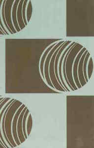 Geometric Modern Wallpaper Contemporary Blue Brown FT20212 Double Rolls
