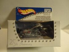 Hot Wheels POW MIA 2002 Chicagoland Toys for Tots SIlver Scorchin Scooter in Box
