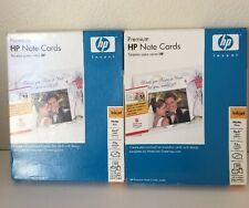 HP Matte Note Cards 30 Half-Fold Cards Lot Of 2