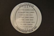 Collingwood - Vintage - Collectable - 1990 Premiership Team - Badge - Button-Pin