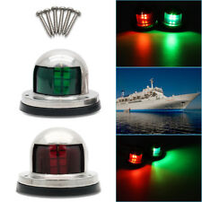 Pair Marine Bow LED Light Stainless Steel Navigation Side Lights Boat Yacht 12V