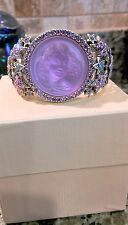 KIRKS FOLLY  LAVENDER  DREAM ANGEL CUFF BRACELET WITH STARS   SILVER TONED