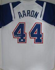 9a3ff80f5 Braves HANK AARON #44 Signed Custom Atlanta Jersey AUTO - HOF '82 - MVP