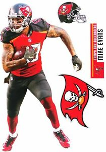"""Mike Evans Tampa Bay Buccaneers Fathead Teammate Sticker Wall Decal 17"""""""