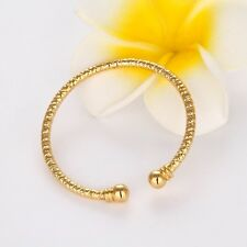Women's Carved Bangle Bracelet 18K Yellow Gold Filled 65mm Fashion Jewelry New