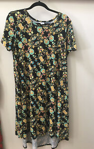 NWOT Lularoe Large Jessie Dress - Black Floral