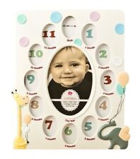 Fashioncraft Baby Collage Picture Frame White Giraffe Elephant