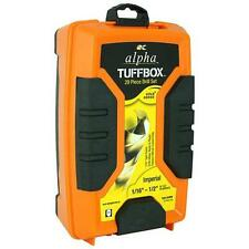 Alpha Tuff Box 29 Imperial Drill Set Case Gold Series Titanium Nitride Coated