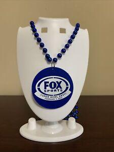 FOX SPORTS 2002 Super Bowl XXXVI New Orleans Louisiana Mardi Gras Bead Necklace