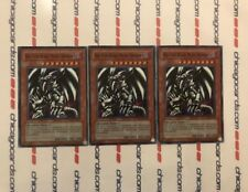 3x Red-Eyes Black Metal Dragon Unlimited YuGiOh Super Rare HOLO PP01-EN015 New