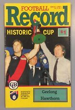 GEELONG V HAWTHORN ROUND 1 1990 MARCH 31 FIRST AFL RECORD CATS V HAWKS