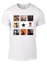 David Bowie Album CD Collection T-Shirt Ziggy Dogs Hunky Black Star Low vinyl W