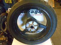 HONDA CBR 600 RR 2007 2008:REAR WHEEL (NO TYRE):USED MOTORCYCLE PARTS