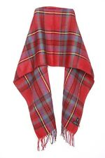 Tartan Print Red Blue Green Casual Everyday Warm Winter Scarf W Tassels (s61)
