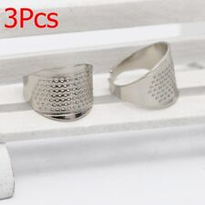 3x Thimble Sewing Quilting Metal Thimble Ring DIY Leather Craft Finger Protector