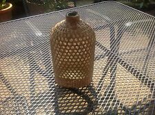 Vintage Wicker  Rattan covered drink / whisky / bottle, Flask, 21cm X 11cm