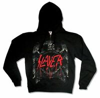 Slayer Bronzed Eagle Black Zip Up Sweatshirt Hoodie Small New Official