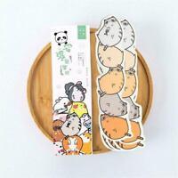 30pcs Cute Cartoon Animals Paper Bookmark Kawaii School Children Stationery X5E6