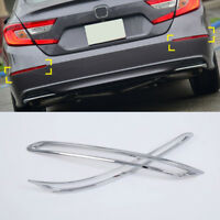 ABS Chrome Rear Tail Fog Light Lamp Cover Trim 2pcs For Honda Accord 2018 2019