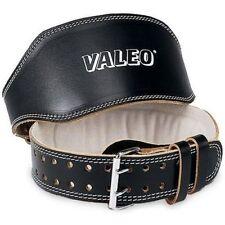 Valeo 4-inch Padded Leather Lifting Belt for Men & Women Back Support,sz MED