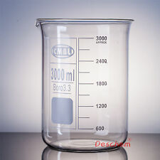 3000mL Glass Beaker,3 Litre,Low Form,Good Quality,Lab Borosilicate Glassware