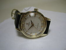 OMEGA SEAMASTER AUTOMATIC 14 K SOLID YELLOW GOLD PIE-PAN DIAL 1958 WATCH